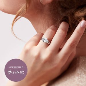 curved wedding band as advertised in the knot