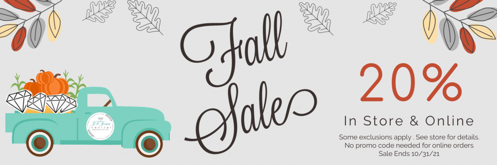 Fall Sale 20% off. Ends 10/31/21